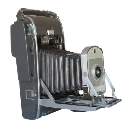bellows: Old camera that used film that developed its own pictures fast