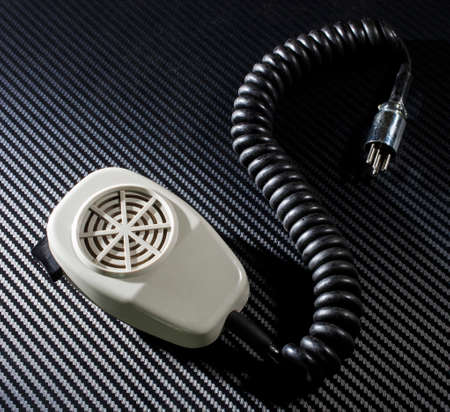 cb: Microphone that was used for old ham or citizens band radios Stock Photo