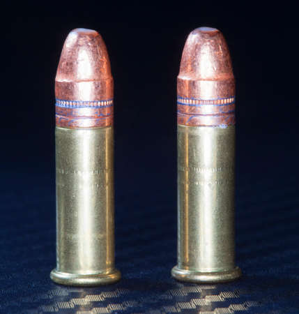 twenty two: Two rimfire cartridges that are designed for twenty two firearms