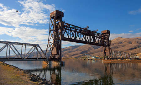 lewiston: Railroad bridge that can be raised over a river in Lewiston Idaho