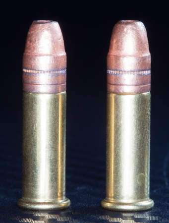 twos: Rimfire ammo for twenty twos with copper plated bullets Stock Photo