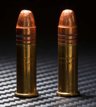 twenty two: Two rimfire cartridges used in rimfire twenty two guns