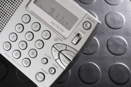 shortwave: Small battery powered receiver that can listen on the shortwave bands Stock Photo