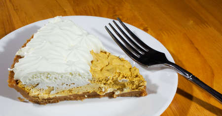 pumpkin pie: Pumpkin pie with a whipped filling and whipping on top