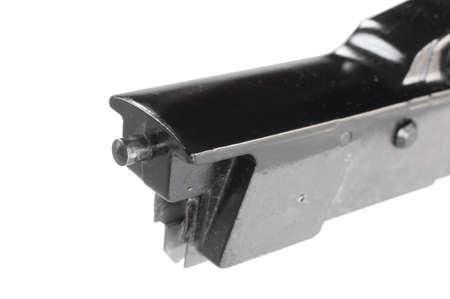 gun trigger: Small portrusion that allows a gun trigger group to index in the receiver on a gun