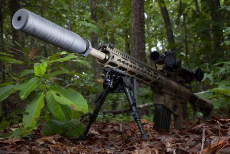 suppressor: Semi automatic modern sporting rifle and a suppressor
