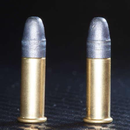 twenty two: Cartridges designed for twenty two caliber rim fire guns Stock Photo