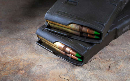 rounds: Two magazines that hold thirty rounds for a modern sporting rifle