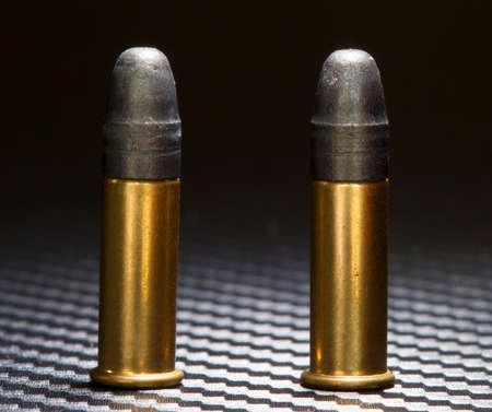 twenty two: Ammunition for twenty two firearms that are rim fire Stock Photo