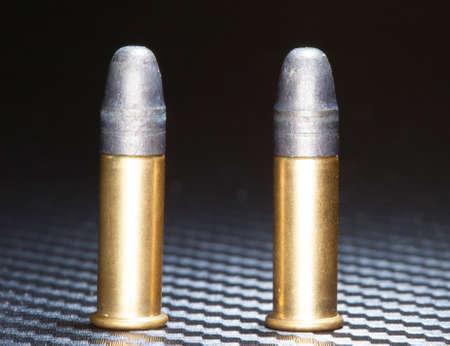 twenty two: Rim fire ammo designed to go into a twenty two Stock Photo