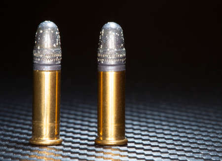 Rim fire ammuntion old enough there is oxidation on the bullets Imagens