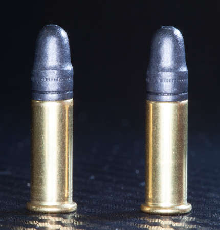 twenty two: Ammunition made for use in a twenty two long rifle gun Stock Photo