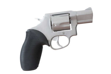 nosed: Revolver with a snub nosed barrel isolated on white Stock Photo