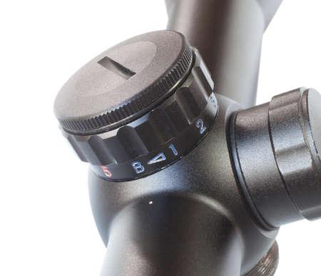Knob on a rifle scope designed to adjust reticle brightness