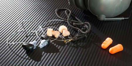 earpiece: Different kinds of protection worn in the ears when at a shooting range or noisy places