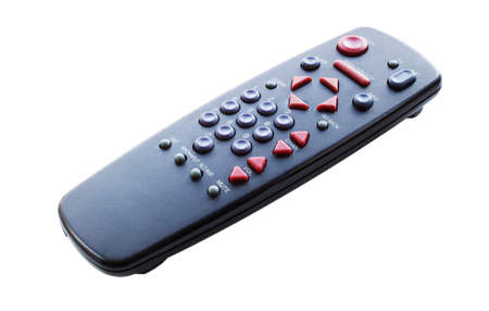 Black television remote control isolated on a white background Reklamní fotografie