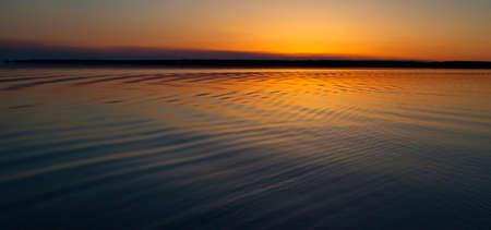 saskatchewan: Moments after the sun has gone down on a lake in Saskatchewan Canada