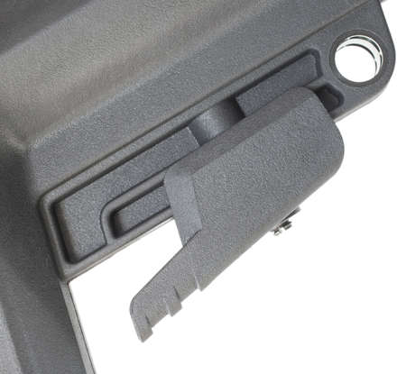adjuster: Lever on a rifle stock used to adjust length of pull