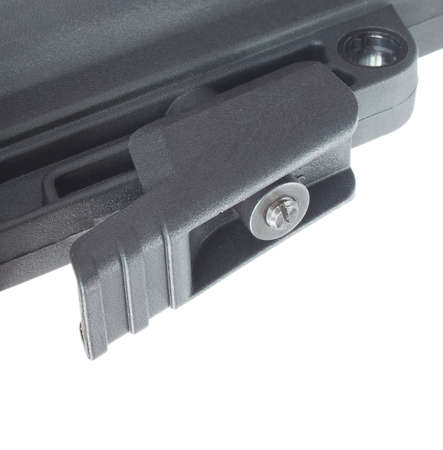 Lever used to adjust length of pull on a semi automatic rifle stock