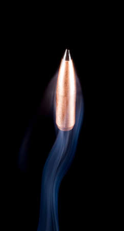 plating: Bullet with copper plating and polymer tip that looks like it is rising