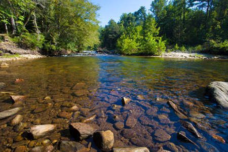 rock creek: Wilson Creek with a lot of rock in the water in North Carolina