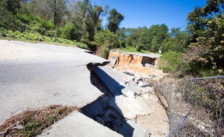carolina: Raeford North Carolina road gone after Hurricane Matthew