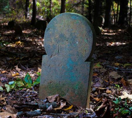 노스 캐롤라이나에있는 오래된 스코틀랜드 묘지의 비석