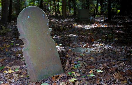 オールド・スコットランド墓地で見る最初の墓石の1つ