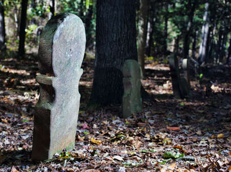 무어 카운티 노스 캐롤라이나에있는 오래된 스코틀랜드 묘지 스톡 콘텐츠