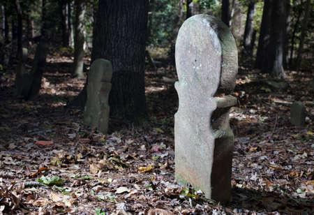 ノースカロライナ州ムーア郡の墓マーカー 写真素材 - 95514856