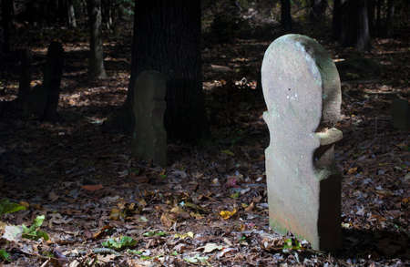 Old headstones at the Old Scottish cemetery in North Carolina 写真素材