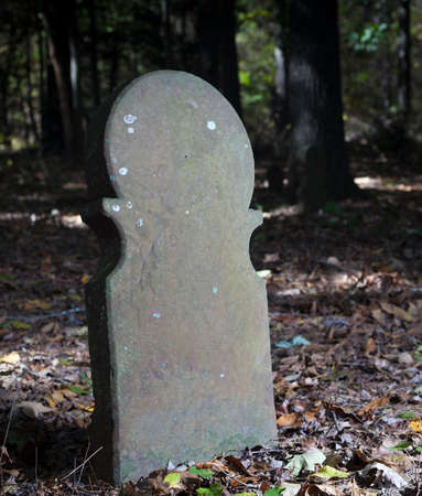 Grave marker nearly 100 years old in North Carolinas old Scottish cemetery 写真素材