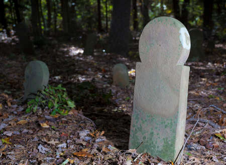 Grave markers in North Carolinas Old Scottish Cemetery 写真素材