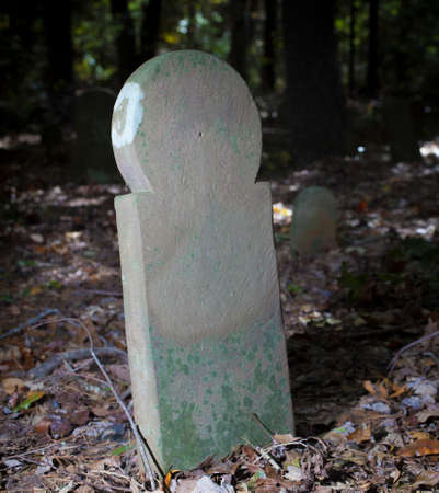 Century old tombstone in an remote North Carolina graveyard