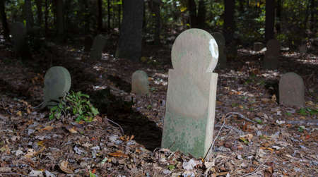 Old and abandoned cemetery and tombstones in North Carolina