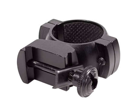 Sniper scope ring that is isolated on a black background 版權商用圖片