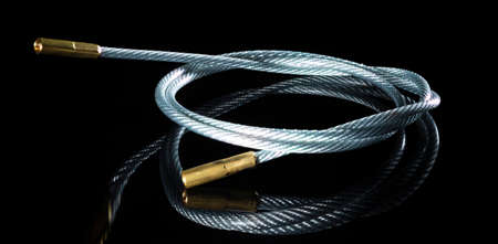 Steel cable and brass tips that are designed for gun cleaning