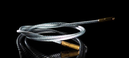 Long steel cable that is designed to clean guns 版權商用圖片