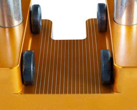 Orange vice base that is used to adjust pistol sights