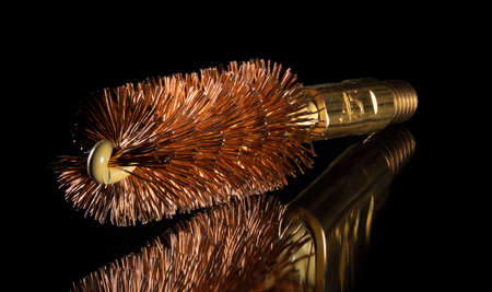 Copper wire cleaning brush for a forty five caliber firearm