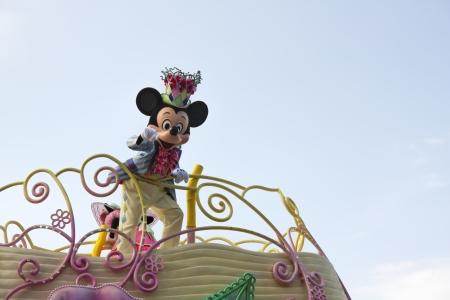 mickey: TOKYO, JAPAN - APR 18   Mickey Mouse in Jubilation Parade at  at Tokyo Disneyland on Apr 18, 2012 in Tokyo, Japan  Editorial
