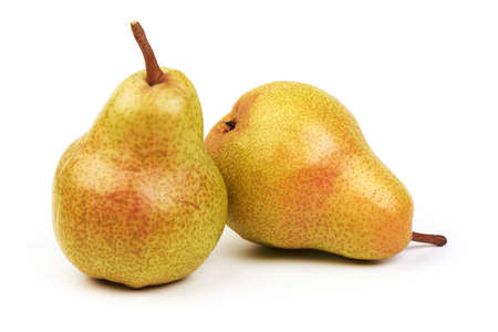 Juicy fresh ripe Williams pears, isolated on a white background Stok Fotoğraf