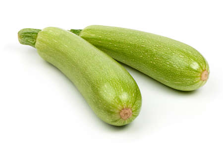Fresh marrow vegetable, close-up, isolated on white background.