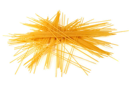 Bunch of spaghetti, isolated on white background. Stock Photo