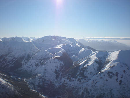 snows: Mountains with Eternal Snows Stock Photo