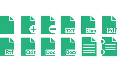files: Icons text files