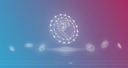 Wereld valuta, blok keten concept Vector Illustratie
