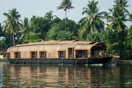 backwaters: Traditional House Boat in Kerala Backwaters, India