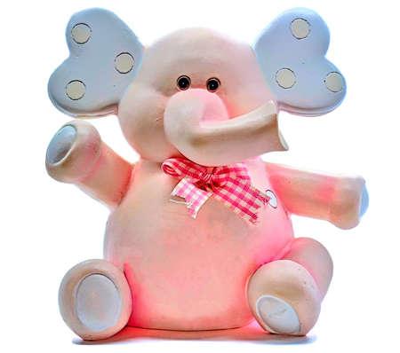 pink elephant: Pink Elephant Figure on a white background