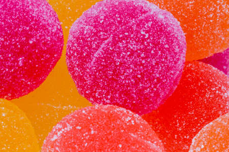 Sweet Background of Marmalade Candy Balls Stock Photo